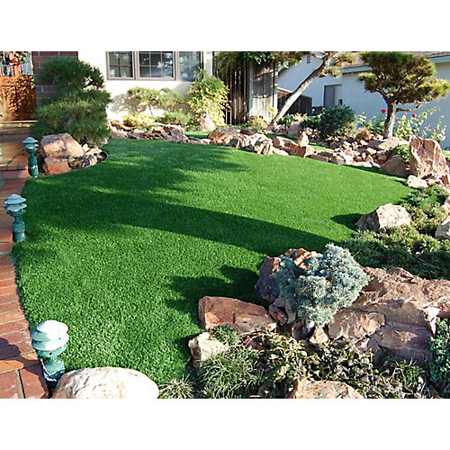 Classic Pro 82 Fescue 3 ft. x 8 ft. Artificial Grass for Outdoor Landscape