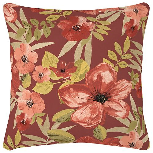 16 inch Chili Tropical Blossom Pillow
