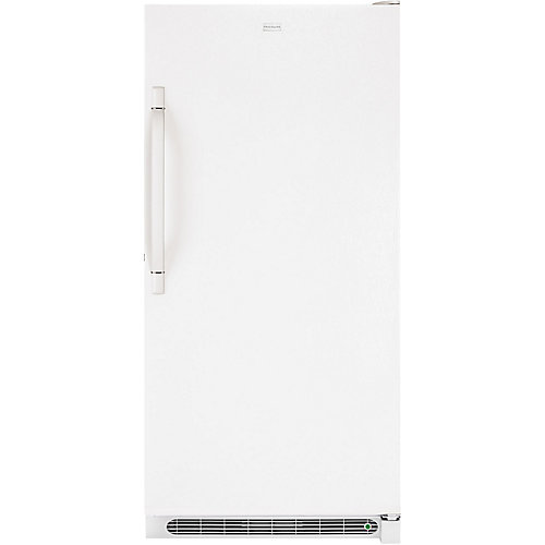 14.4 cu. ft. Manual Defrost Upright Freezer in White
