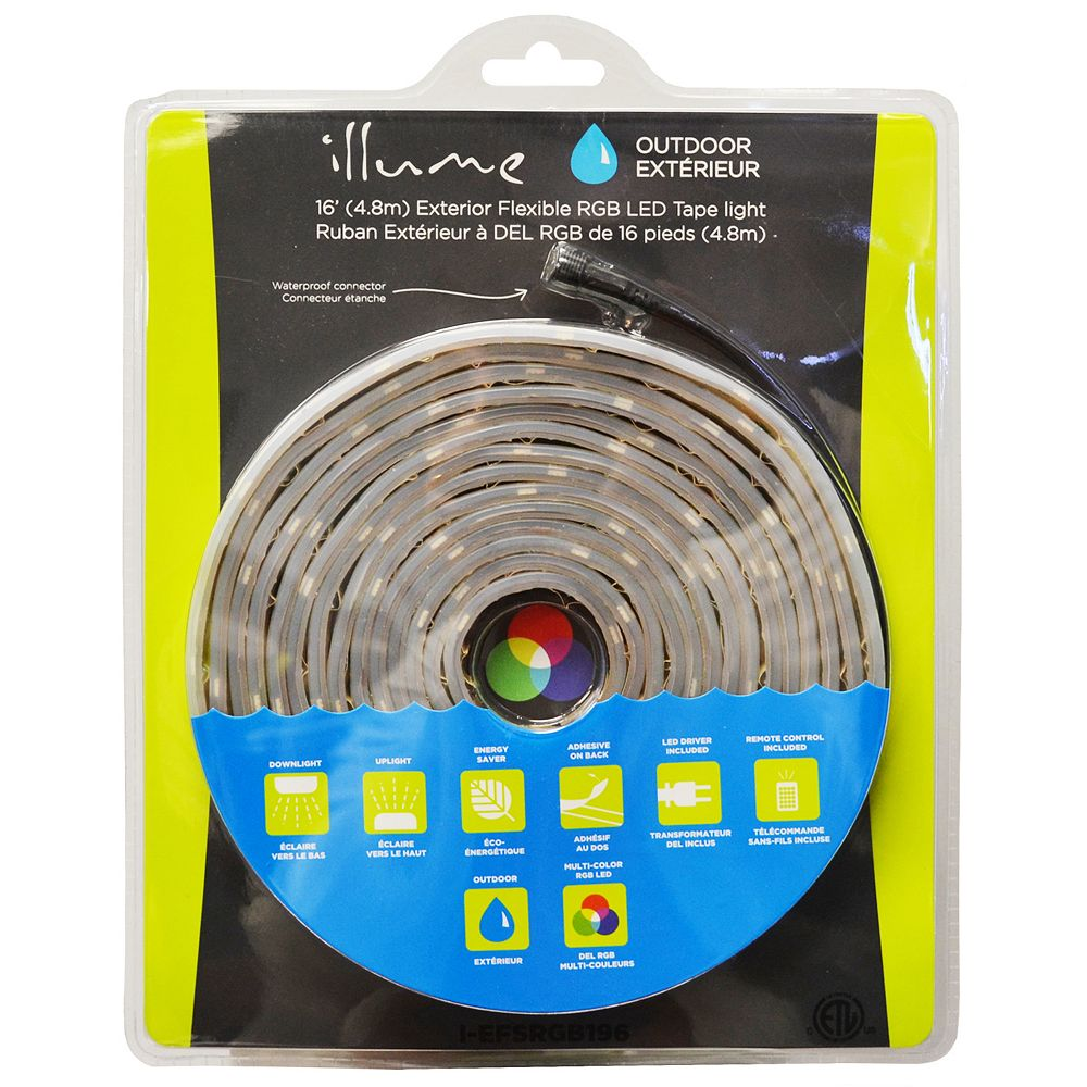 Illume 5 Meter Outdoor RGB LED Tape Kit
