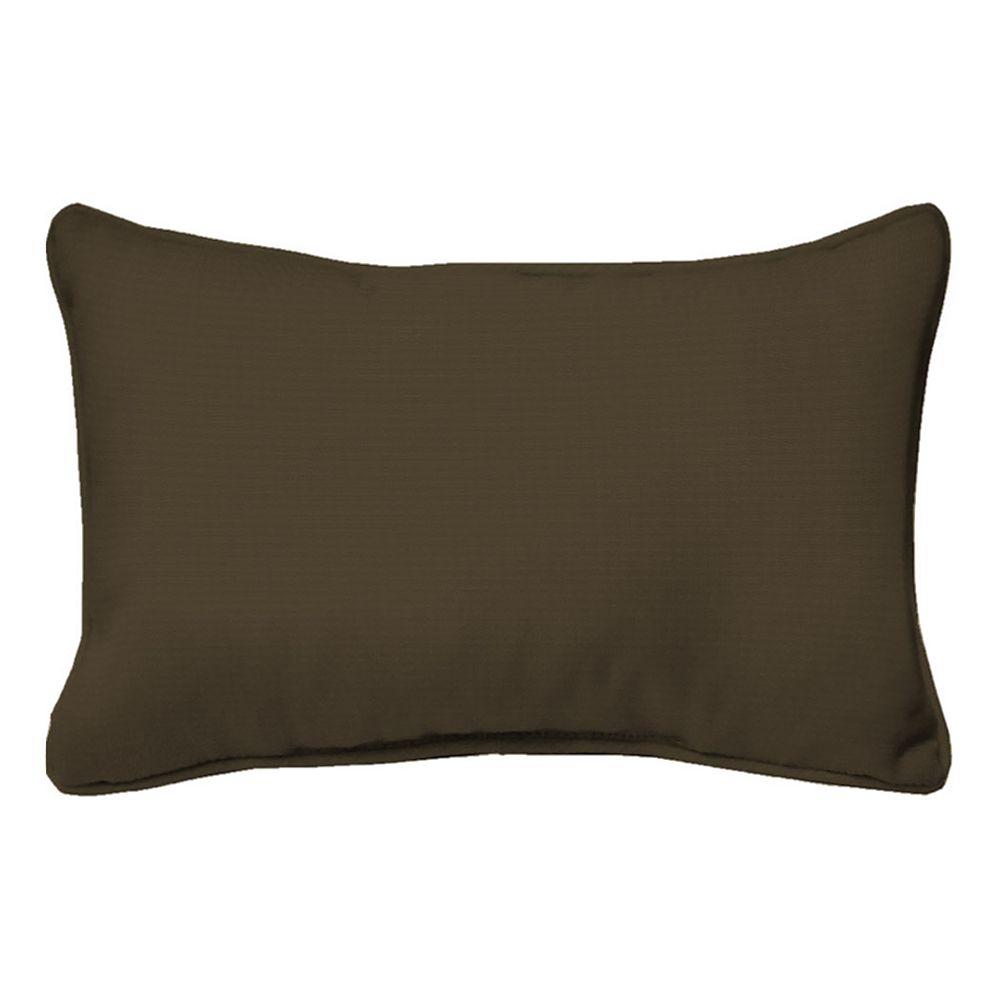 Hampton Bay 20 inch Java Texture Lumbar Pillow