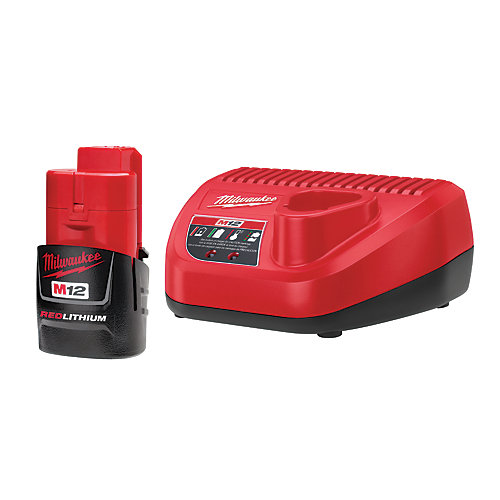 M12 RedLithium 12V Lithium-Ion Battery with Charger