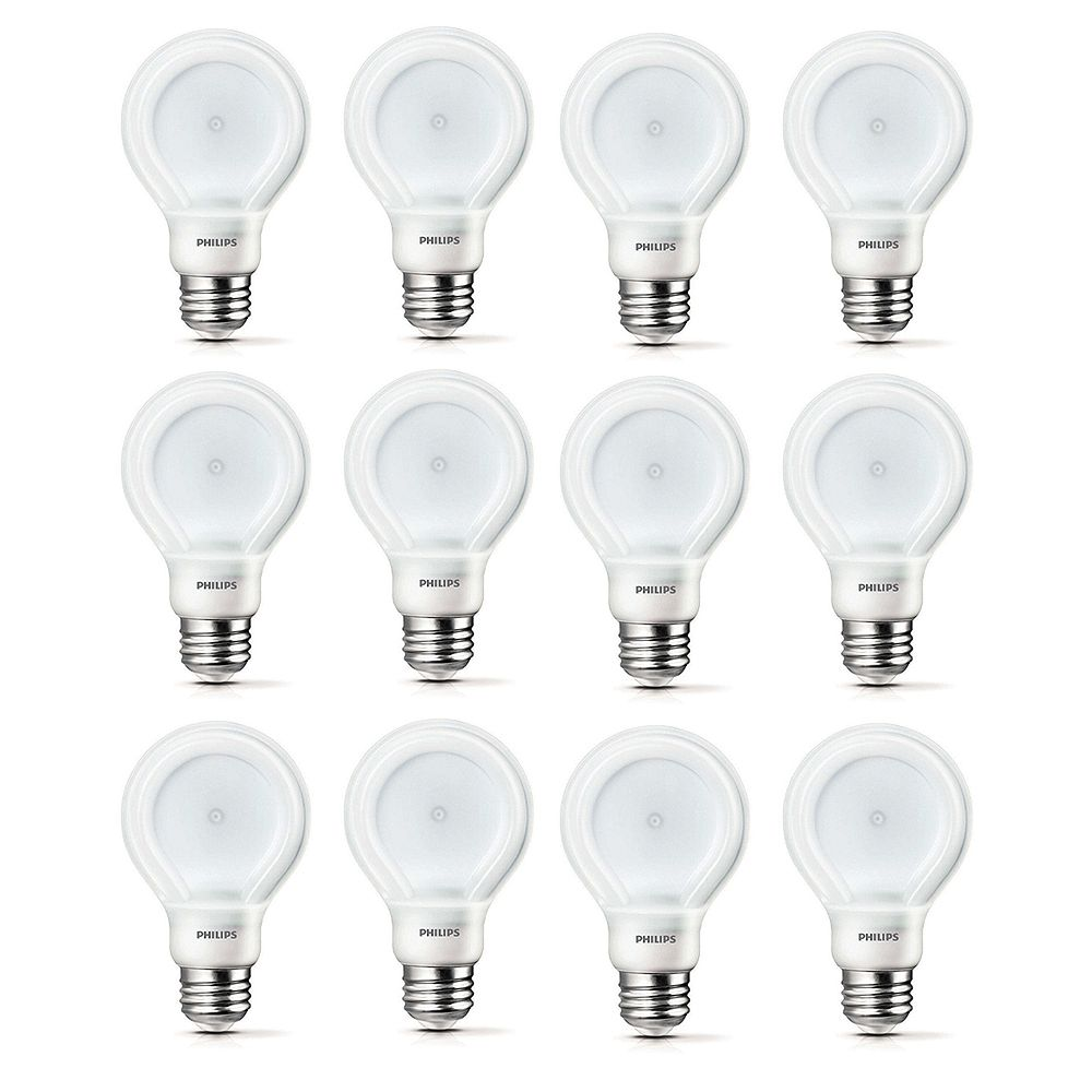 Philips LED 10.5W = 60W A-Line (A19) SlimStyle Soft White (2700K) - Case of 12 Bulbs