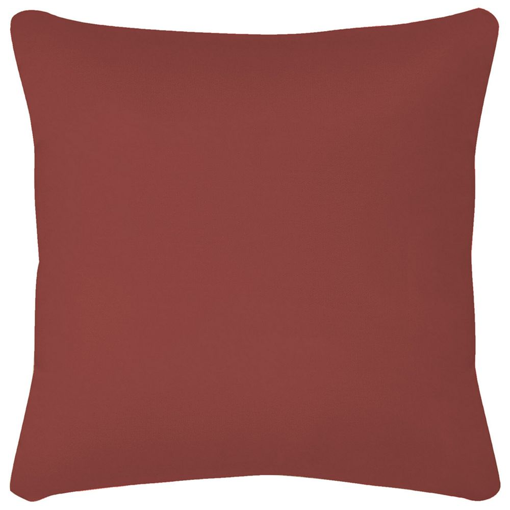 Hampton Bay 16 inch Solid Square Pillow in Chili Red
