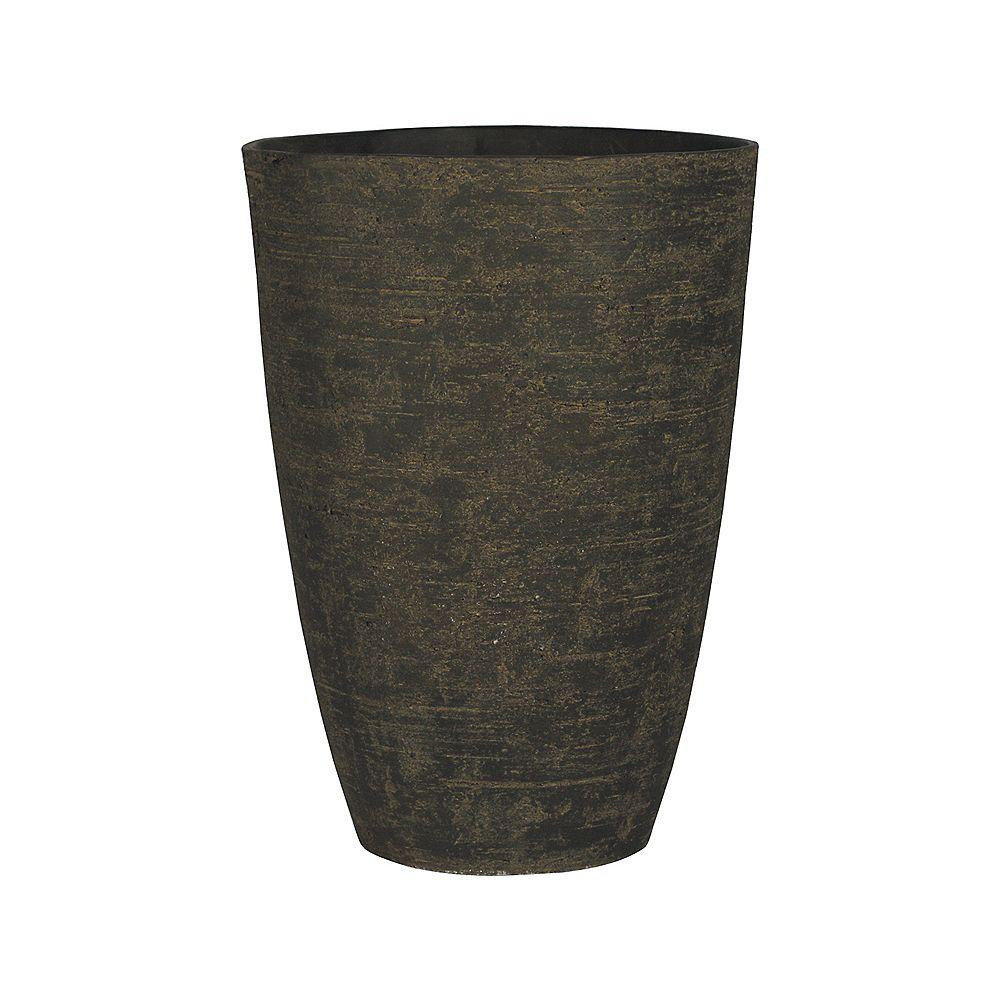 HDG Pot en fibre de verre, couleur de bois de santal - 23 po