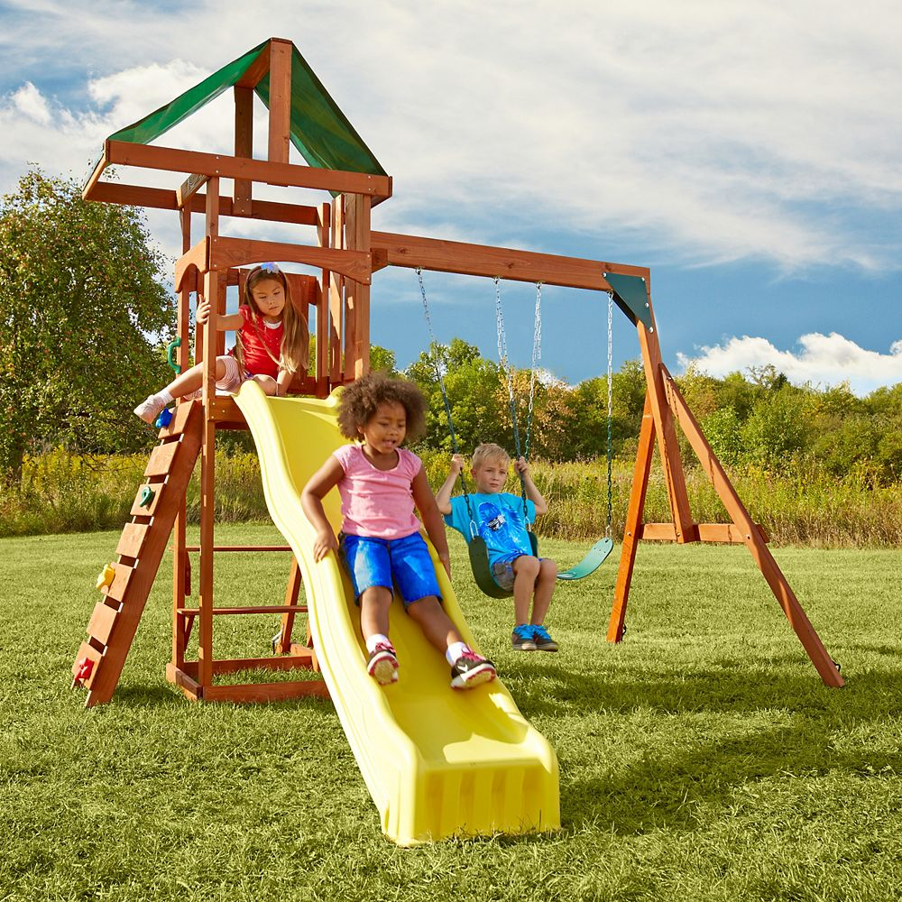 Swing-N-Slide Scrambler Wood Complete Playset