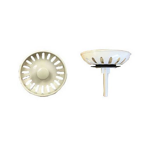 Almond Plastic Complete Strainer Assembly