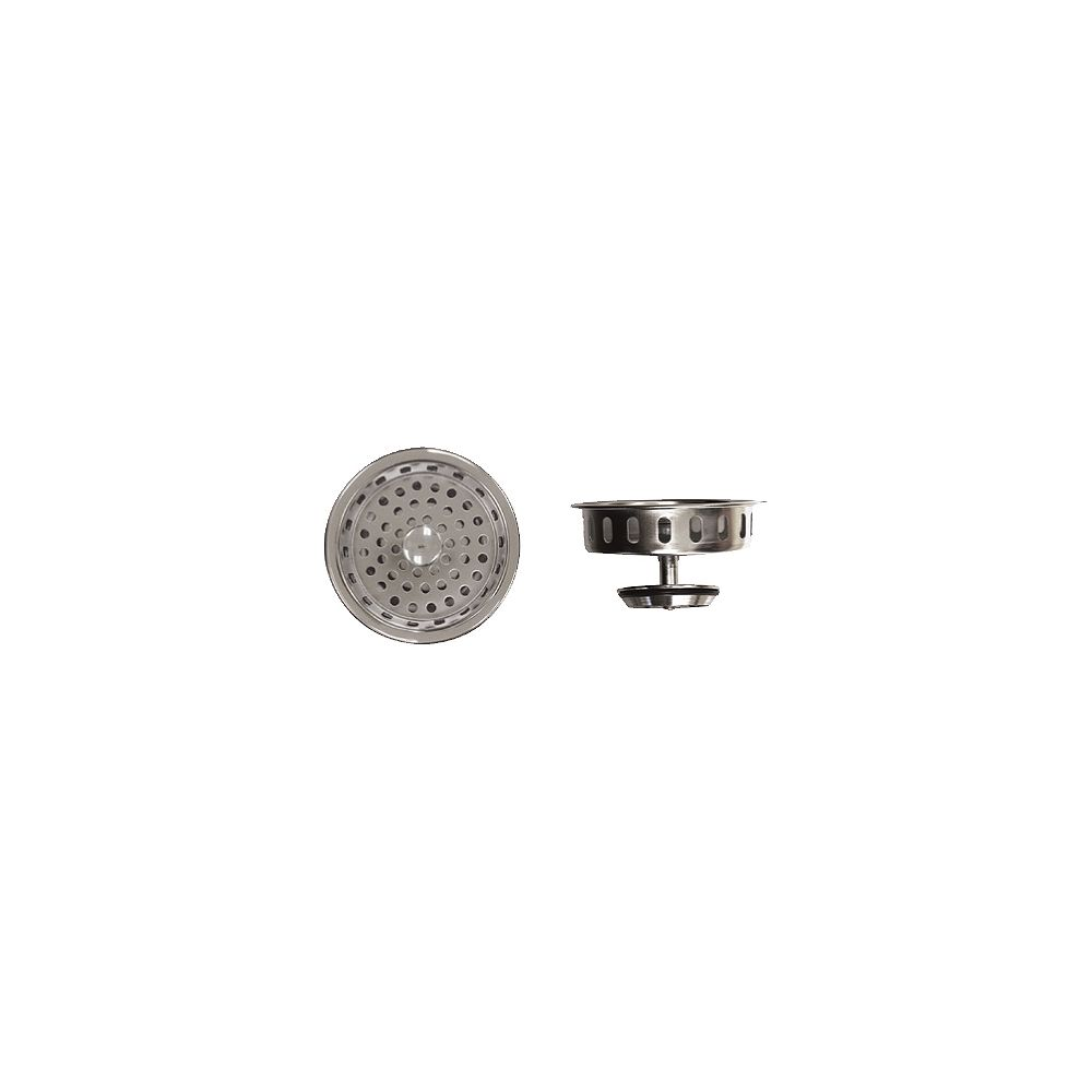 """Supreme By Novanni Premium Basket Strainer - Similar to Kohler Strainer. Chrome Plated Brass, """"O"""" Inch Ring Seal Closure, Replacement Basket for 11-0870"""