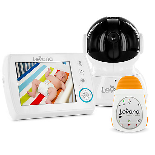 LEVANA<sup>®</sup> Astra Moniteur vidéo bébé numérique avec  alimenté par Snuza<sup>®</sup> Oma Moniteur de mouvement bébé mobile