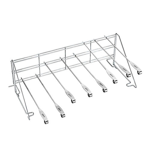 Elevations Tiered Cooking System BBQ Rack and Skewer Set