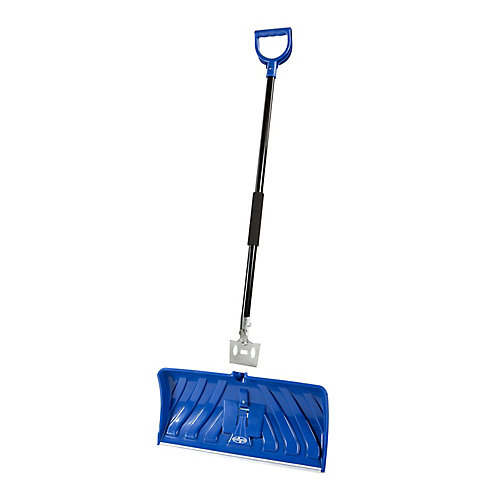 Edge 2-in-1 24-inch Poly Blade Snow Pusher and Ice Chopper, Blue - SJEG24