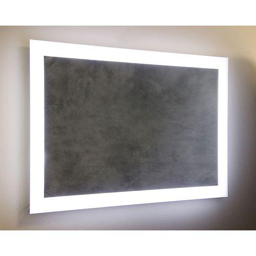 Miroir à ampoules DEL Angel de 24x36po