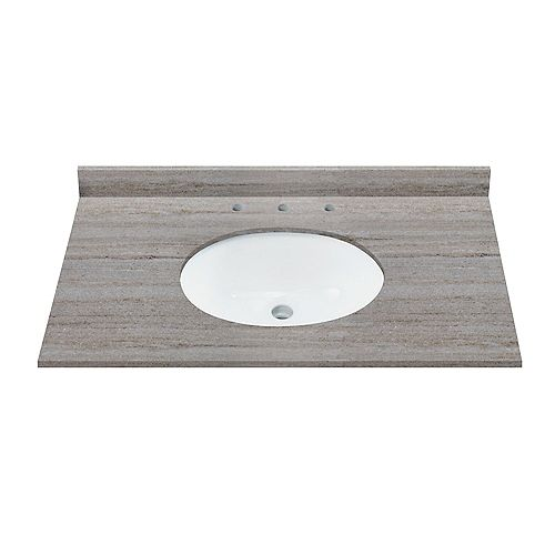 Magick Woods Coastal Sands 37-inch W x 22-inch D Natural Granite Vanity Top