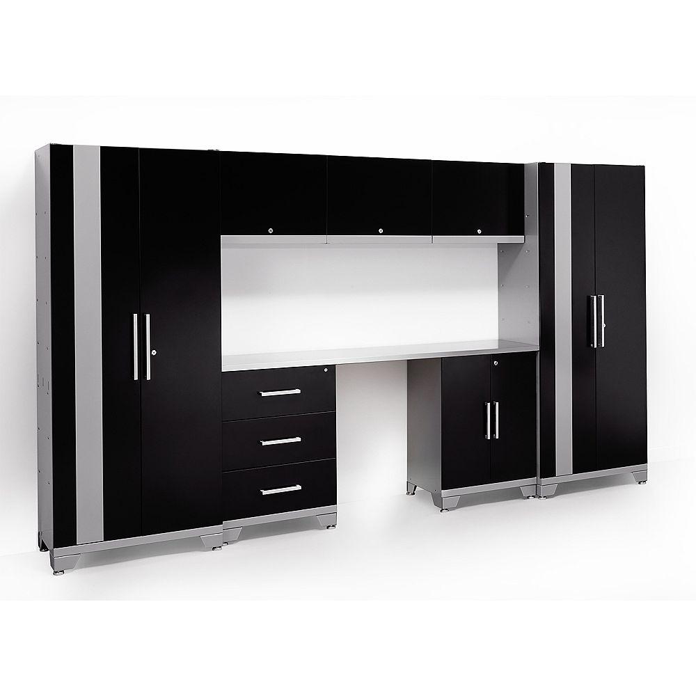 NewAge Products Inc. Ensemble d'armoires métalliques noirs, 8 mcx, 11 pi, série Performance