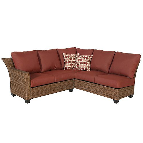 Tobago 2-Piece Fully Woven Sectional Set
