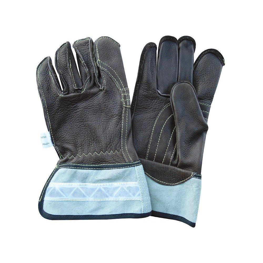 Laurentide Water Repellent Cowhide Leather Linesman Work Glove - Size XL