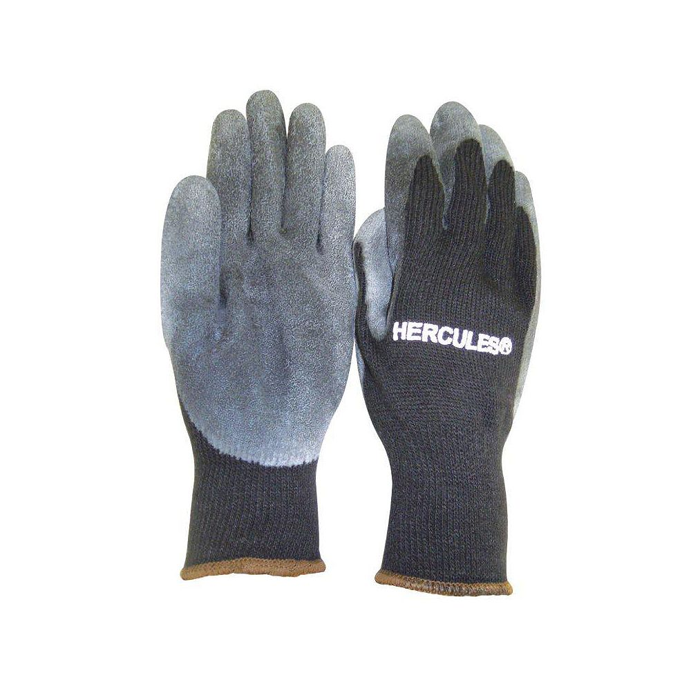 Hercules Winter Weight Latex Dipped Polyester Work Glove - Size XL/11