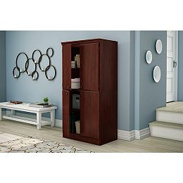 Armoire de rangement 4 portes, Cerisier Royal, collection Morgan