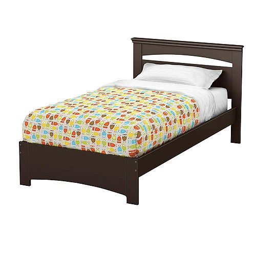 Libra Twin Bed Set in Chocolate