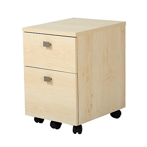 Classeur mobile 2 tiroirs, Érable naturel, collection Interface