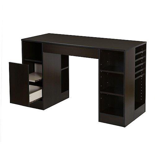 Crea 53.5-inch x 30-inch x 23.5-inch Standard Workstation in Brown