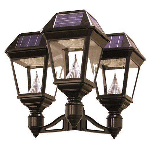 Luminaire solaire à DEL Imperial II à fixation sur un poteau  à 3 lanternes