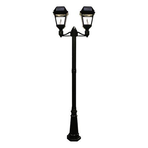 Lampadaire et luminaire solaire à DEL Imperial II  à 2 lanternes
