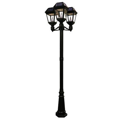 Lampadaire et luminaire solaire à DEL Imperial II  à 3 lanternes