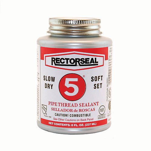 Rector Seal Brand Slow-Dry Pipe Thread Sealant 5 (6-Pack)