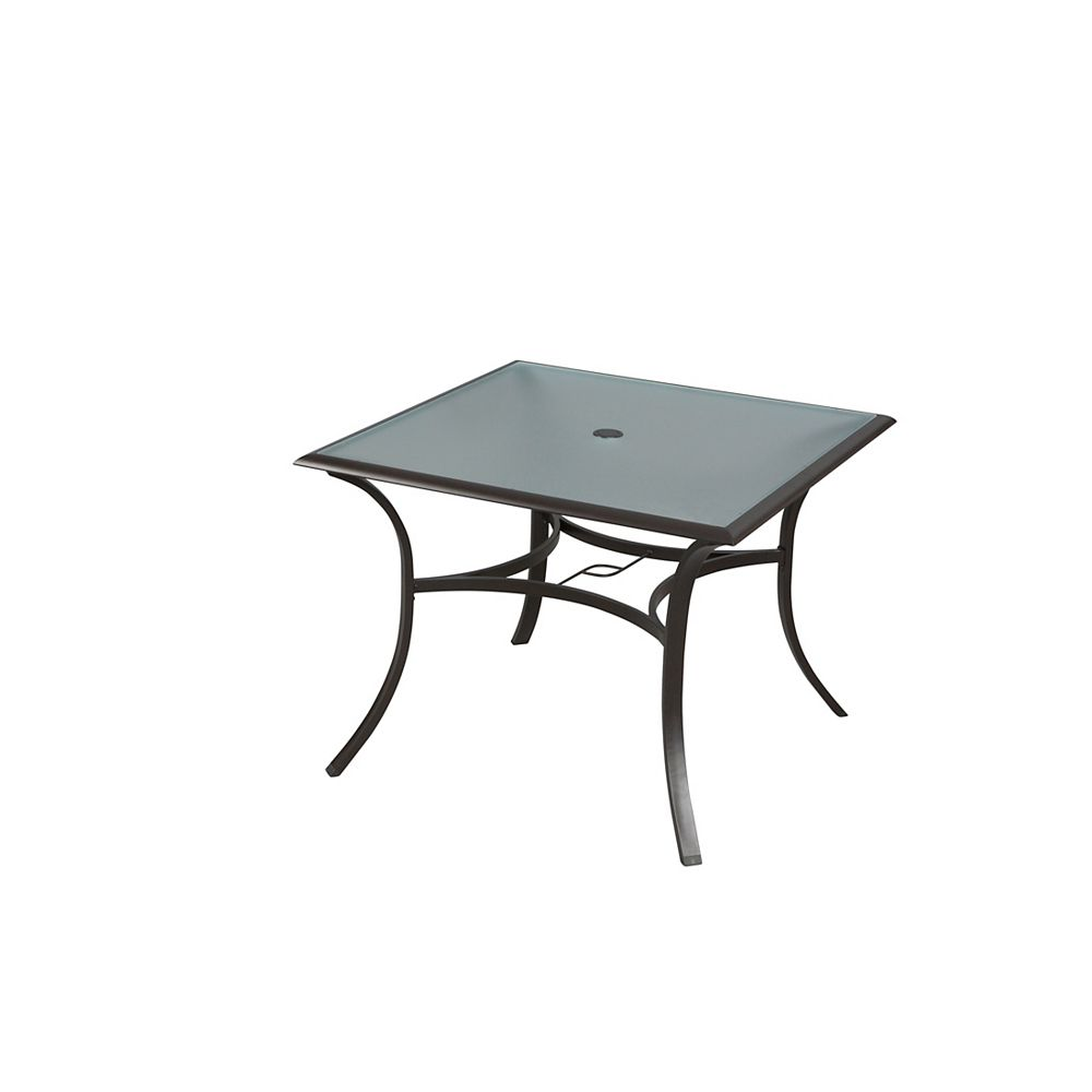 HDG Patio 42-inch Square Glass Patio Dining Table