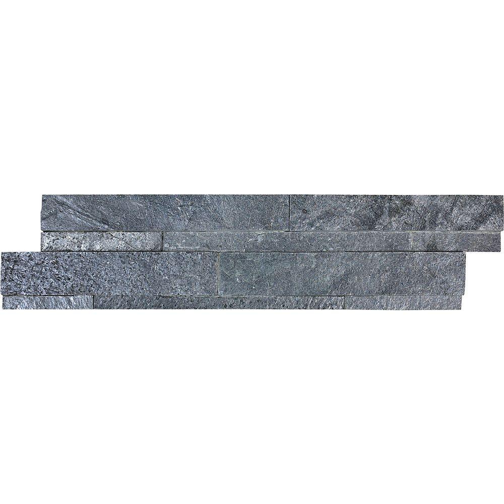 Enigma Carreaux autoadhésifs Astro, 6po x 24po, pierre d'appui, fini argenté