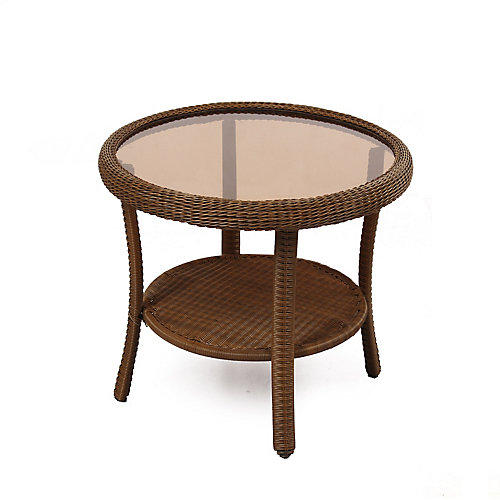 Table d'appoint ronde Printemps Haven- Brun