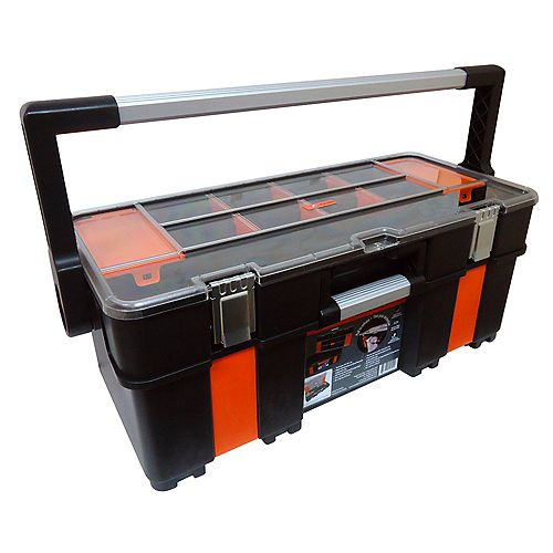 Kubota 24-inch Tool Tote and Clear Organizer