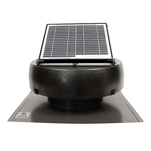 10 Watt Solar Attic Fan Ventilates up to 1250 Sq. Feet.