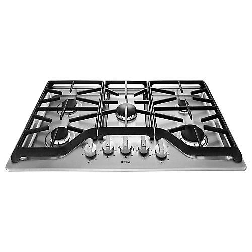 Table de cuisson à gaz de 36 po en acier inoxydable avec 5 brûleurs, y compris le brûleur électrique