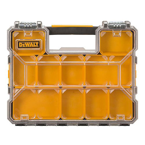 10-Compartment Shallow Pro Small Parts Organizer