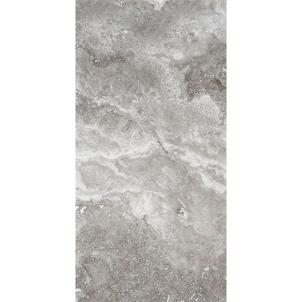 Eliane Rogini Gray 12-inch X 24-inch Glazed Porcelain Floor & Wall Tile (11.62 Sq. Feet/Case)