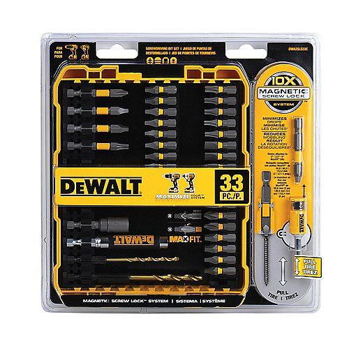 33-Piece MAX Fit Screwdriving Bit Set