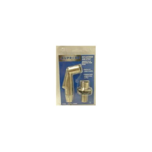 Side Spray With Hose Guide. White. Clam Shell Packaging