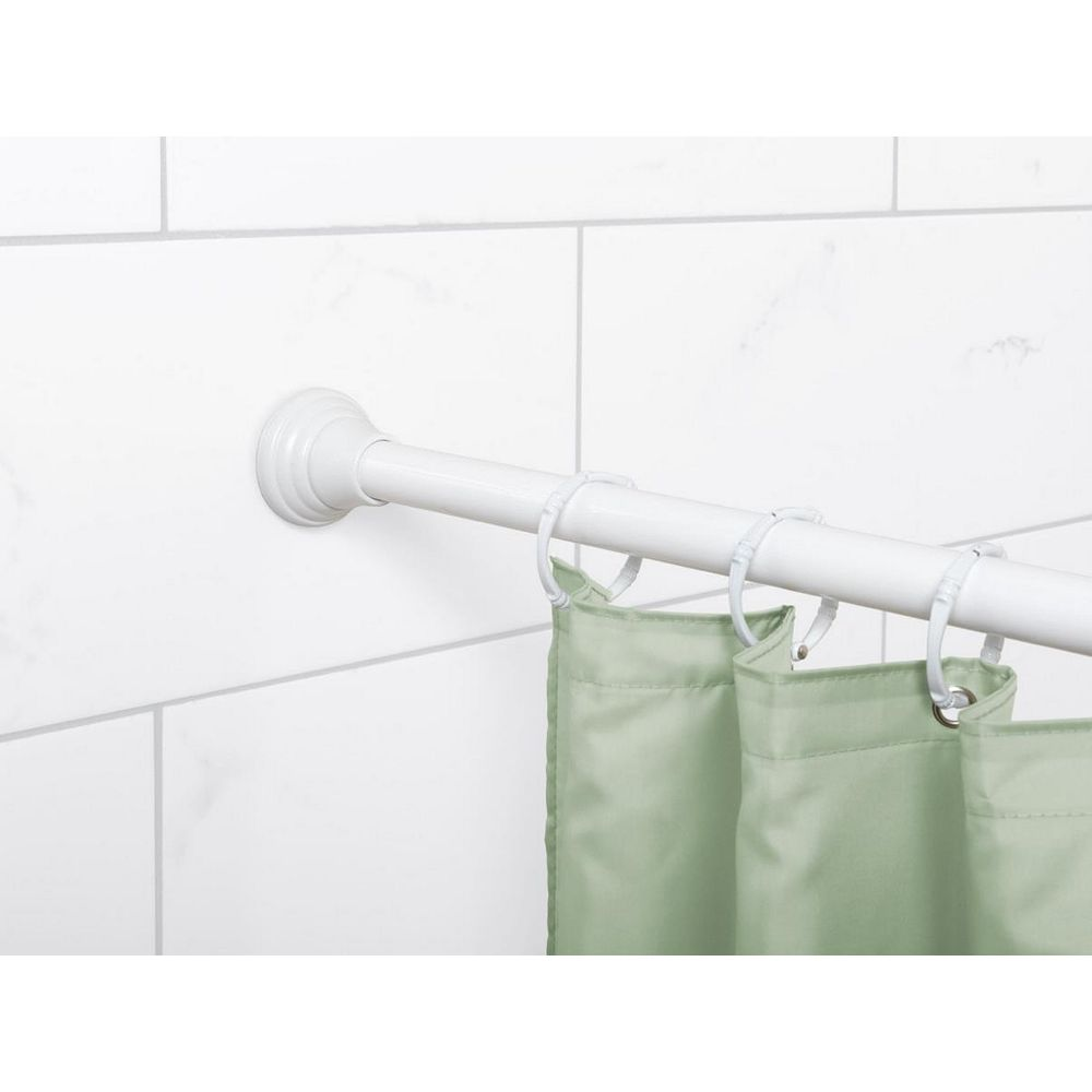 Zenna Home Finial Tension Rod in White