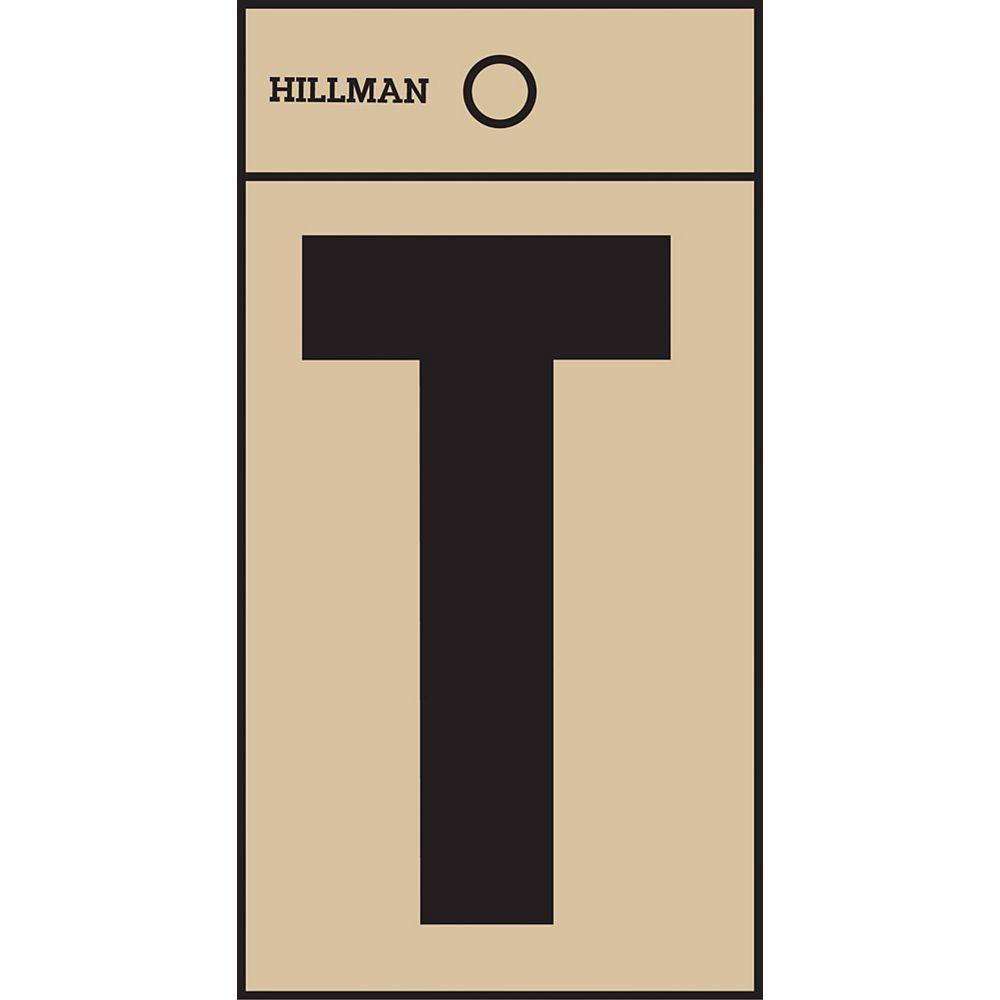 Hillman 2 Inch Black & Gold Mylar Sticker T