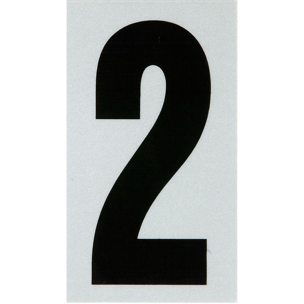 Hillman 2 Inch Black & Silver Reflec Mylar 2