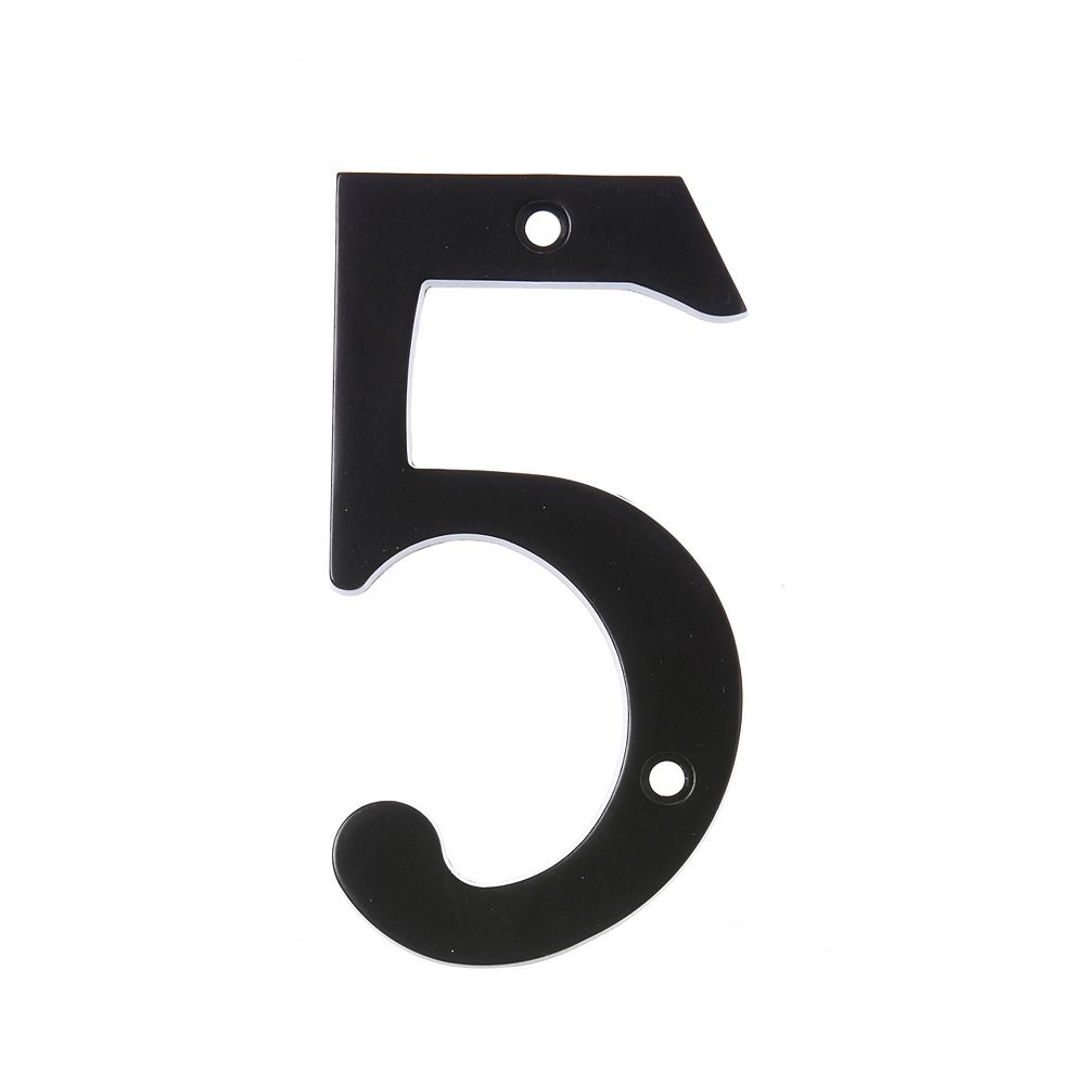 Hillman 6 Inch Black House Number 5