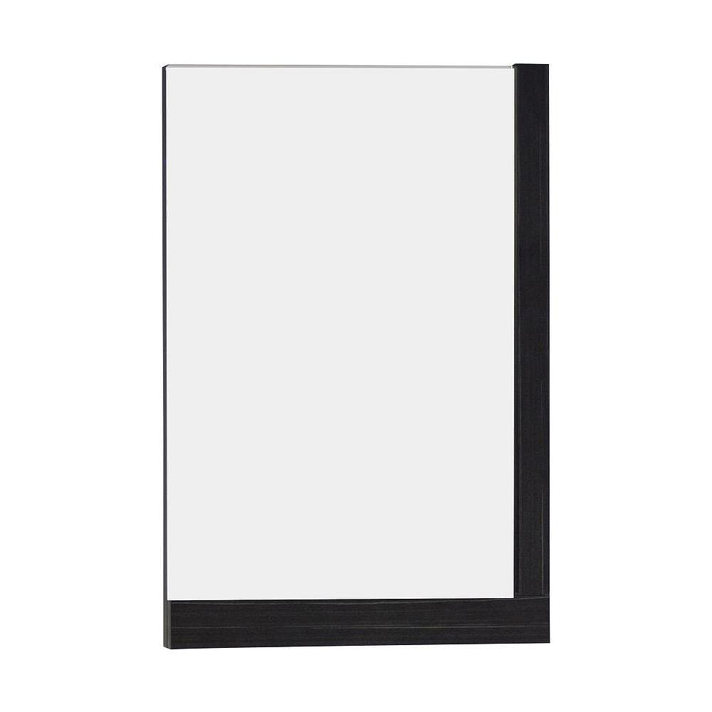 American Imaginations 24 Inch W x 32 Inch H Solid Plywood Mirror Finished with Modern Style Melamine In Dawn Grey Finish