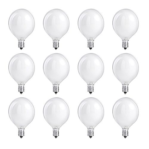 Philips 40W Halogen Globe (G16.5) White Light Bulb (12-Pack)