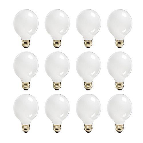 Philips 60W Halogen Globe (G25) White Light Bulb (12-Pack)