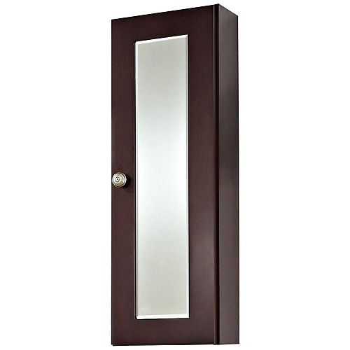 American Imaginations 12 Inch W x 36 Inch H Cherry Wood Reversible Door Medicine Cabinet in Coffee Finish
