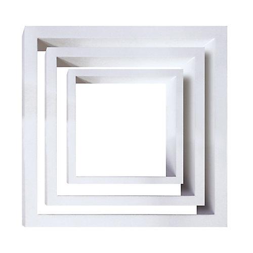 Jeu de trois étagères murales Cubbi, bois blanc