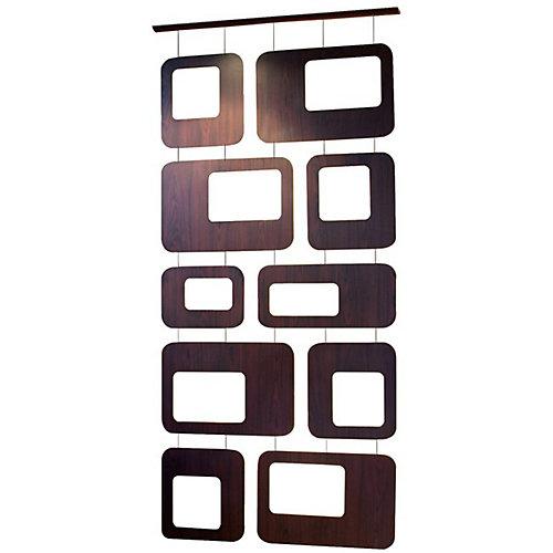 Sotto Series 40 by 87-Inch Retro- Chic Walnut Veneer Room divider