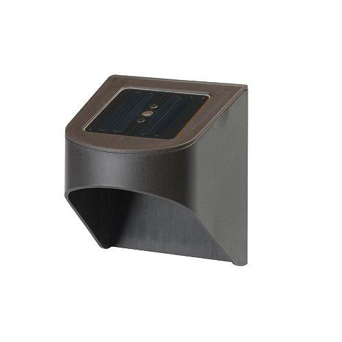 Solar Fence Light Dark Brown LED (4-Pack)